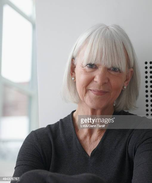 Senior Caucasian woman smiling