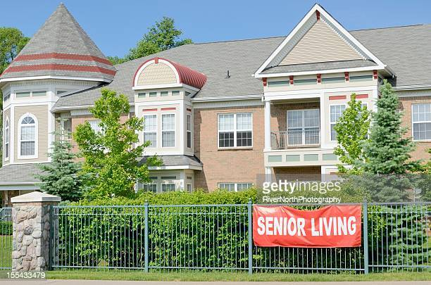 senior center - retirement community stock pictures, royalty-free photos & images