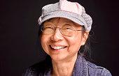 senior chinese woman smiling