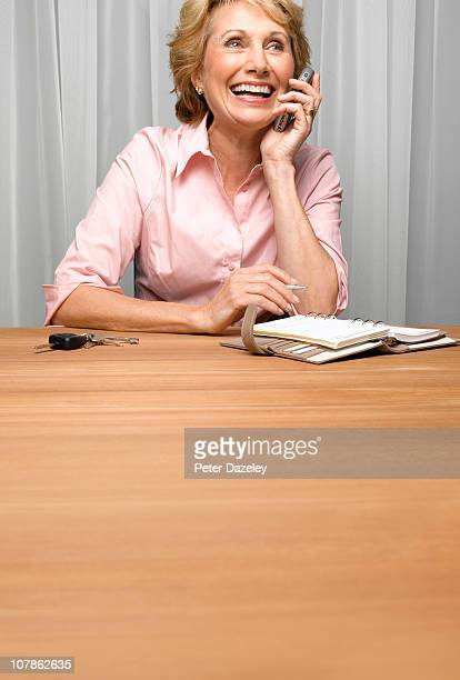 Senior citizen talking on the phone