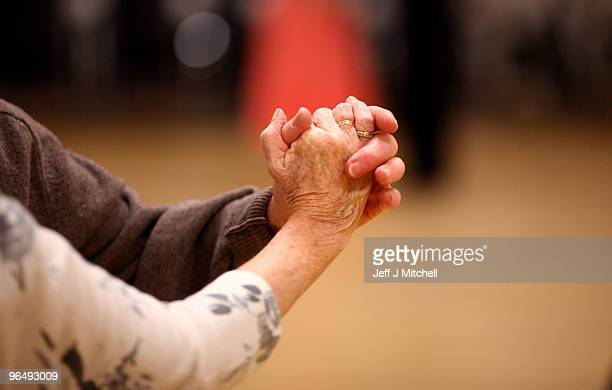 Senior citizens enjoy a tea dance at the Glasgow Club in the Gorbals on January 28 2010 in Glasgow Scotland As the UK gears up for one of the most...