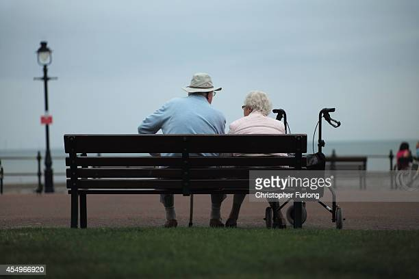 Senior citizens relax on Llandudno Promenade on September 8, 2014 in Llandudno, Wales. Britain is facing multiple problems stemming from an increase...
