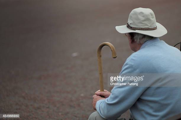 Senior citizens relax on Llandudno Promenade on September 8 2014 in Llandudno Wales Britain is facing multiple problems stemming from an increase in...