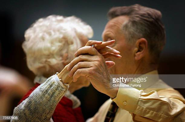 Senior Citizens take part in the Kelvinside weekly tea dance, 22 February 2005, Glasgow, Scotland. There are 11.22 million pensioners in the UK -...