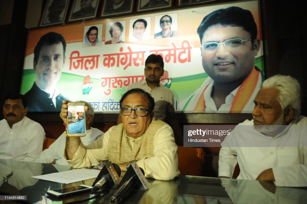 IND: Press Conference Of Gurugram Congress Party Candidate Ajay Yadav