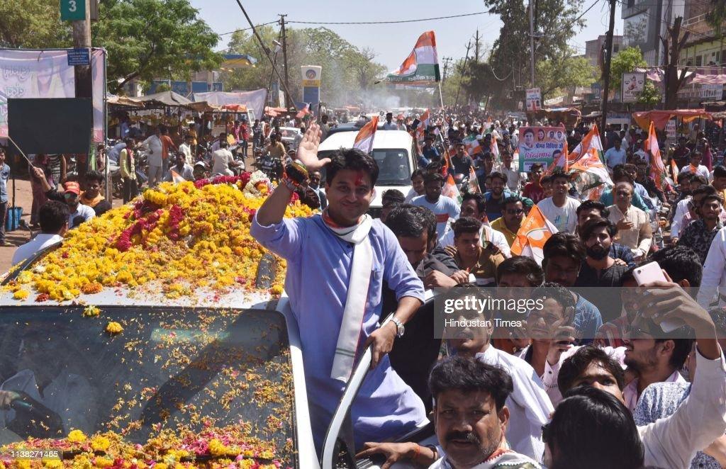 IND: Senior Congress Leader Jyotiraditya Scindia Addresses A Public Meeting In Alirajpur