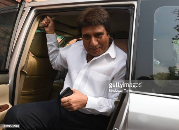 Senoir Congress leader Raj Babbar during the Budget session of Parliament on March 21 2018 in New Delhi India