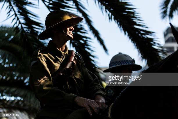 Senior constable Lovette during commemorations for the centenary of the Australian Light Horse Charge at the Battle of Beersheba on October 31 2017...