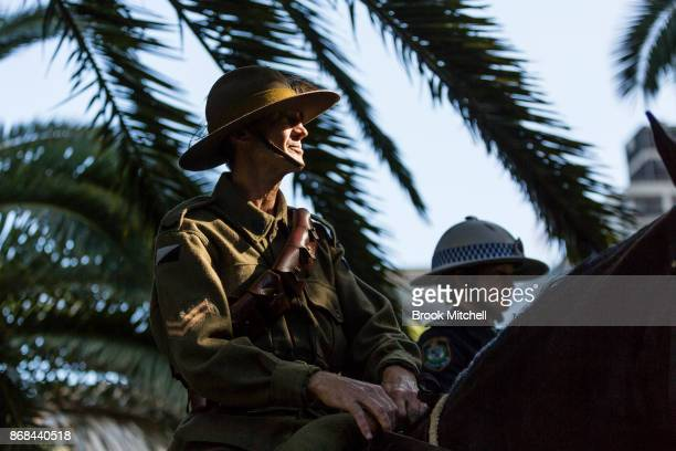 Senior constable Lovette is pictured during commemorations for the centenary of the Australian Light Horse Charge at the Battle of Beersheba on...