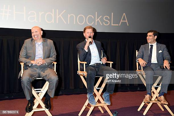 Senior Coordinating Producer at NFL Films Patrick Kelleher General Manager of the Los Angeles Rams Les Snead and HBO Sports Executive VP Peter Nelson...