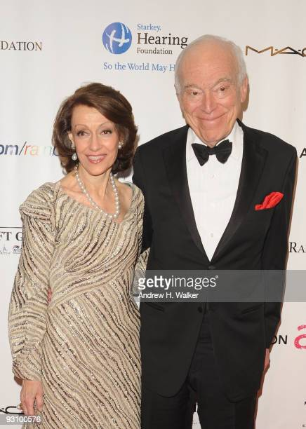 Senior Corporate Vice President of the Estee Lauder Companies Evelyn Lauder and Chairman of the Board of Estee Lauder Companies Leonard Lauder attend...
