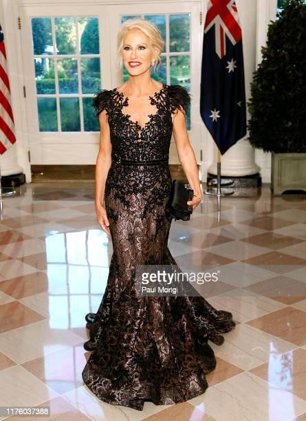 Senior Counselor to the President Kellyanne Conway arrives for the State Dinner at The White House honoring Australian PM Morrison on September 20...