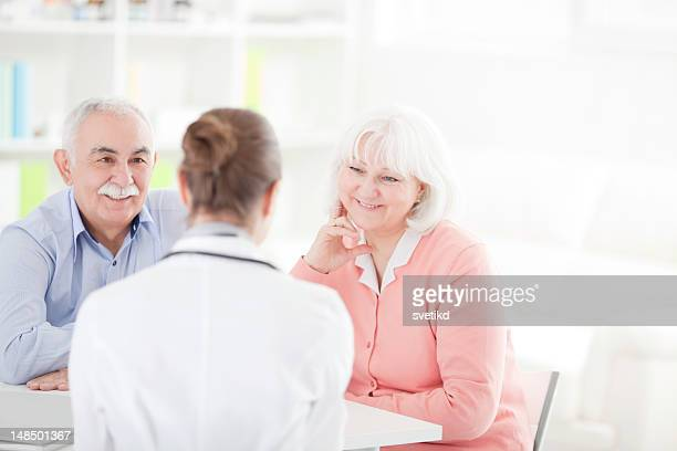 Senior couple at doctor's office
