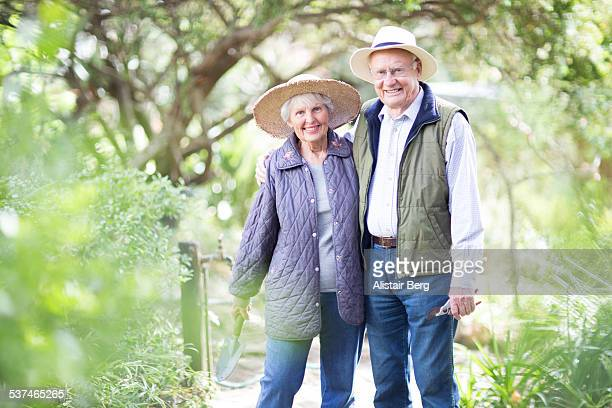 Senior couple at home together