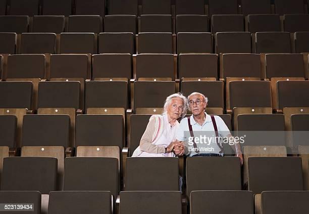 Senior couple at the movies.