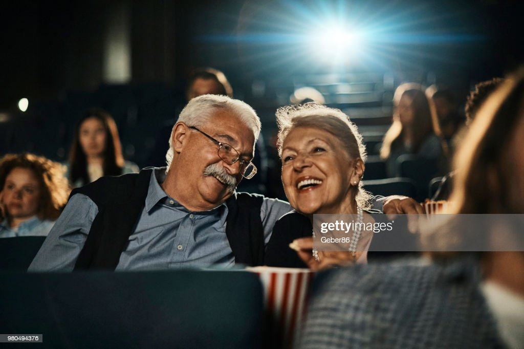 Senior couple at the movies : Stock Photo