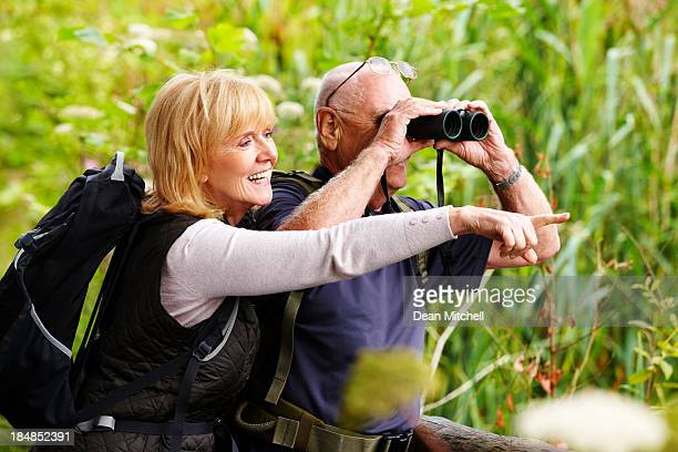 Senior Couple Bird Watching