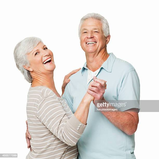 Senior Couple Dancing - Isolated