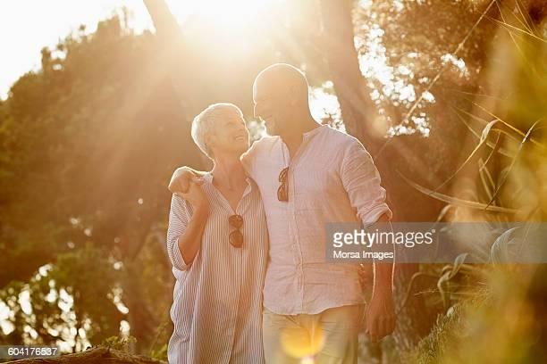 Senior couple enjoying summer vacation