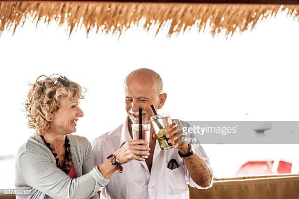 Senior Couple Enjoying Summer Vacations