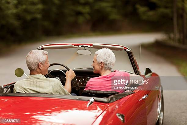 Senior Couple Going For a Drive, Rear View