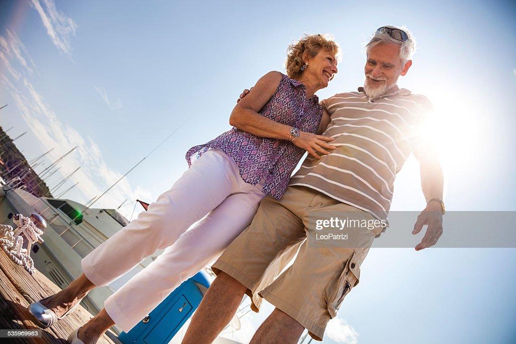 Senior couple having a great day : Stock Photo