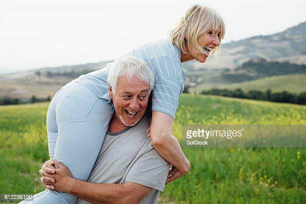 Senior Couple Having Fun Together