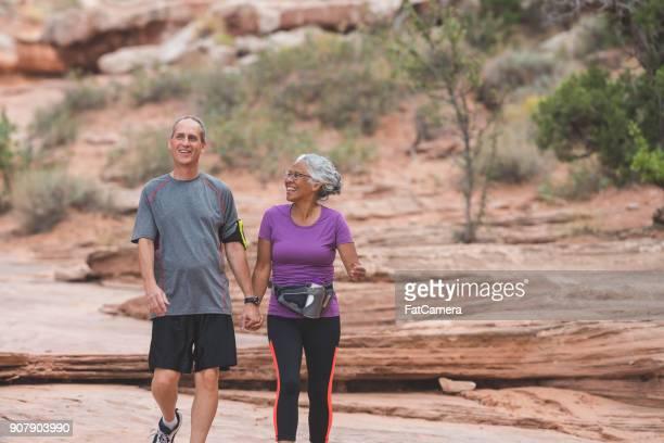 Senior Couple Hiking in Desert