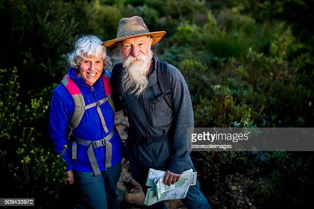 Senior Couple Hiking in the Australia outback.