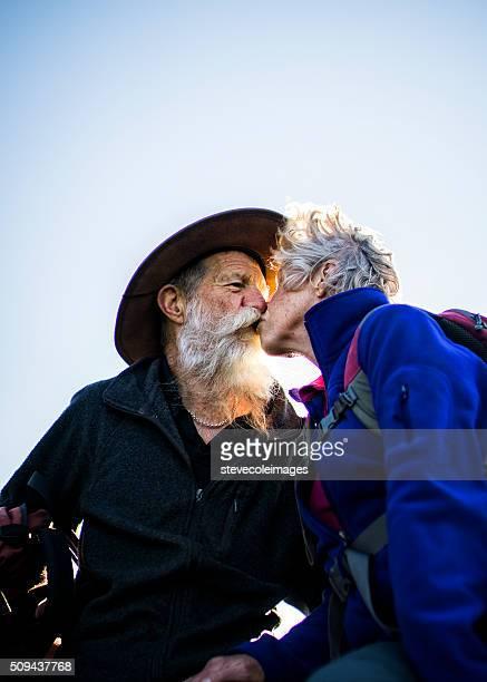 Senior Couple Hiking in the Australia outback.