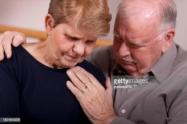 Senior couple in grief (DEPRSSION SERIES)