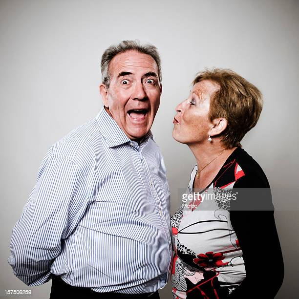 senior couple in love - sneering stock pictures, royalty-free photos & images