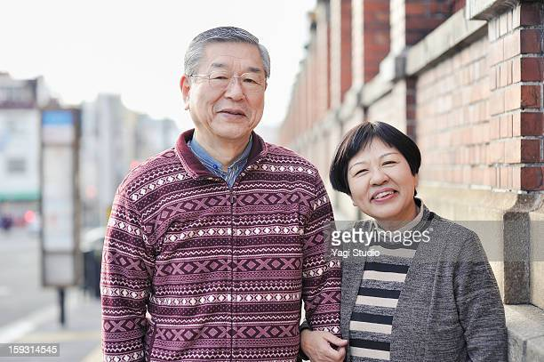 Senior couple in the city, portrait
