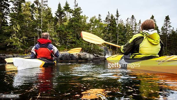 Senior Couple Kayaking