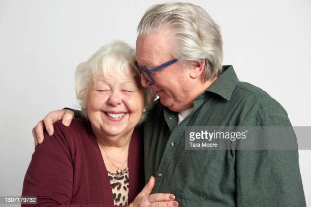 senior couple laughing - laughing stock pictures, royalty-free photos & images