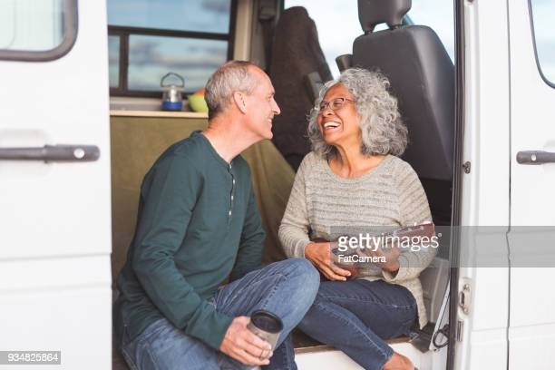 senior couple living on the road! - ukulele stock pictures, royalty-free photos & images