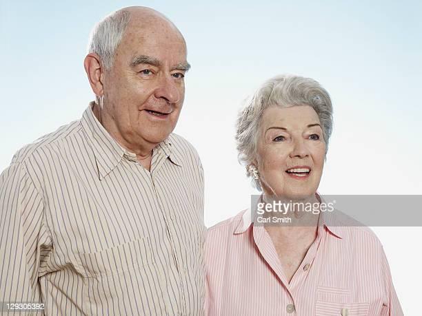 Senior couple look into distance