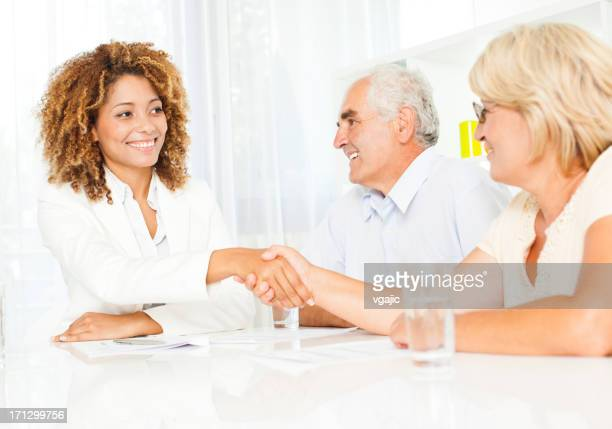 Senior Couple Meeting With Financial Advisor.