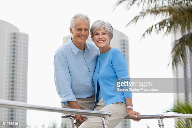 Senior Couple on a yacht portrait