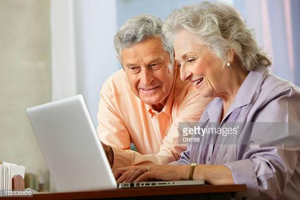 Senior Couple on Computer