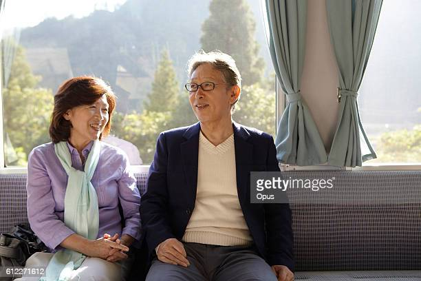 Senior Couple on Train