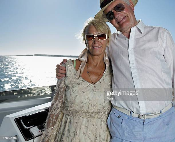Senior Couple on Yacht
