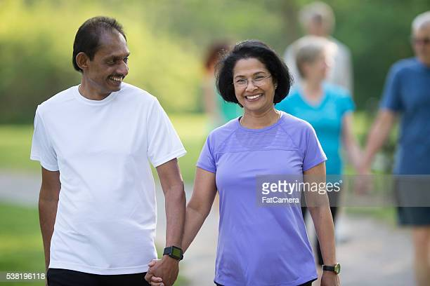 Senior Couple Out on a Walk