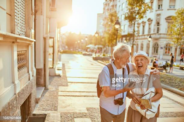 senior couple - photo messaging stock photos and pictures