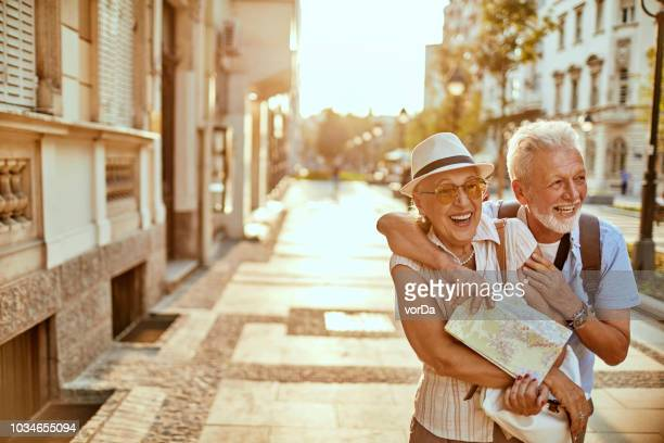 senior couple - tourist attraction stock pictures, royalty-free photos & images