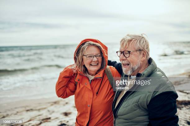 senior couple - nordic countries stock pictures, royalty-free photos & images