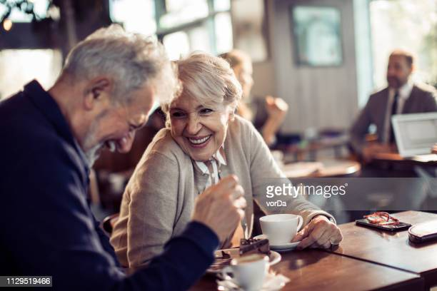 senior couple - coffee stock pictures, royalty-free photos & images