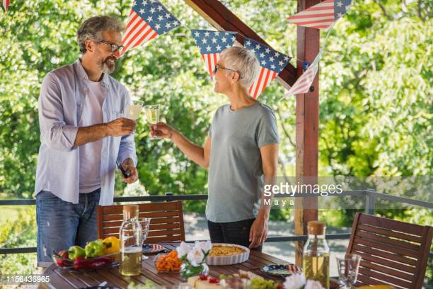 senior couple - fourth of july stock pictures, royalty-free photos & images