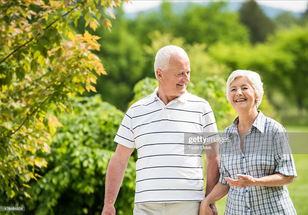 Senior Couple - Relaxing and Having Fun Together : Stock Photo