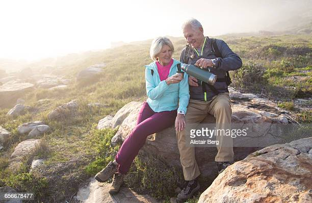 Senior couple relaxing outdoors together